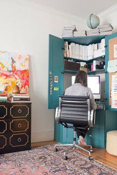 office in the living room