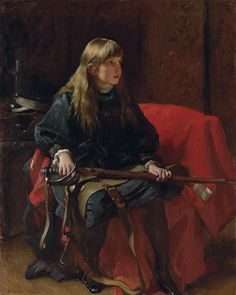 """approachingalephnull: """" Frank Holl (1845 - 1888) Did you ever kill anybody Father? """""""