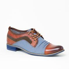 best service 39e5c e12d1 Chaussures homme San Diego Camel Kdopa. Lacets De CouleurTissu BleuCuir Chaussures ...