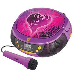 Disney Descendants CD Radio Player Boom Box with Mic Disney Descendants Dolls, Disney Channel Descendants, Descendants Costumes, Descendants Cast, Radios, Disney Channel Original, Original Movie, Mal And Evie, Decendants