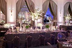 Stephanie + Eric Ballroom Wedding Reception | Perez Photography via Carats & Cake