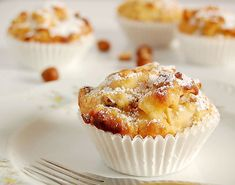 Cinnamon apple muffins from floo Muffin Recipes, Cupcake Recipes, Snack Recipes, Snacks, Streusel Muffins, German Baking, Apple Cinnamon Muffins, Chocolate Chip Muffins, Ice Cream Recipes