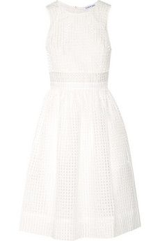 Elizabeth and James Heidi checked organza dress   THE OUTNET