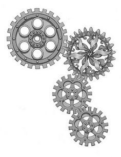 gears tattoo outline - Google Search