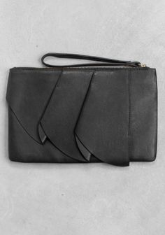 & other stories leather clutch
