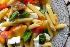 Rainbow Garden Penne - summer pasta