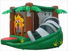 combo safari inflable casa de la despedida, castillo de salto, diapositiva inflable del agua, cursos inflables de los obstáculos para la venta