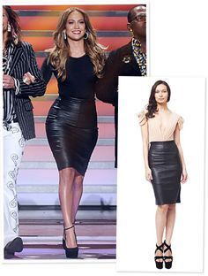 On #AmericanIdol, #JenniferLopez took a seat at the judge's table in a sexy leather pencil skirt and curve hugging bodysuit by celebrity-loved designer #MariaLuciaHohan. http://news.instyle.com/2012/03/22/american-idol-style-jennifer-lopez-maria-lucia-hohan/