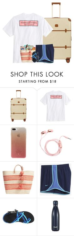 """""""Preppy Summer Contest Day 1"""" by stripedprep ❤ liked on Polyvore featuring Vineyard Vines, Kate Spade, Mar y Sol, NIKE, Chaco, S'well and preppysummercontest2k17"""
