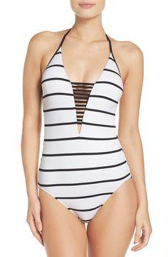 Main Image - Seafolly Castaway Stripe One-Piece Swimsuit