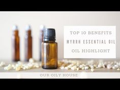 Top 10 benefits and uses of myrrh essentail oil with roller bottle recipes, difffuer blends, and natural skin care tips. Using essential oils safely.