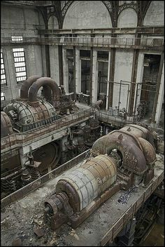 abandoned places So after the Steam Plant trip we decided to make a attempt at the power plant. When we returned we found all the workers had gone and decided to make a try at get Steampunk, Abandoned Factory, 40k Terrain, Industrial Architecture, Old Factory, Industrial Photography, Abandoned Buildings, Abandoned Places In The Uk, Monochrom