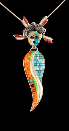 Small Corn Maiden Pendant by MicheleFosterJewelry on Etsy, $396.00