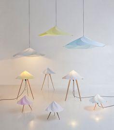 Chantilly Lamps by Constance Guisset for Moustache - Design Milk Home Design, Interior Design, Moustache Design, Rose Moustache, Modern Furniture, Furniture Design, Smart Furniture, Large Table Lamps, Night Lamps