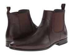 BOSS HUGO BOSS BOSS HUGO BOSS - C-HUBOT BY HUGO (DARK BROWN) MEN'S DRESS PULL-ON BOOTS. #bosshugoboss #shoes #