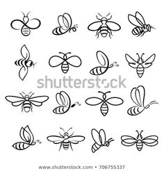 Honey bee set vector set of honey and bee labels for honey logo products isolated insect icon flying bee flat style vector illustration honeysetlogolabels adaptacin redes sociales yogurt alquera Bumble Bee Tattoo, Honey Bee Tattoo, Honey Bee Drawing, Bee Icon, Honey Logo, Honey Label, Et Tattoo, Tattoo Arm, Dibujos Tattoo