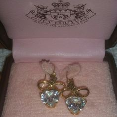 SALEJuicy Couture Heart Shaped Earrings Earrings (box a little beat up but earrings in perfect condition) Juicy Couture Accessories