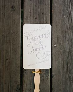 We're a fan of personalization like this pretty little detail from Gianna  Jimmy's wedding we planned!   Venue: @solageresort   Planner: @lrelyeaevents   Photography: @mariannewilson