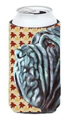 Neapolitan Mastiff Fall Leaves Tall Boy Beverage Insulator Hugger LH9554TBC