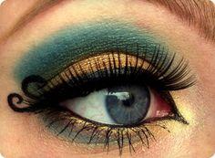 Gold & Teal Eyes..