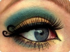 Gold & Teal Eyes