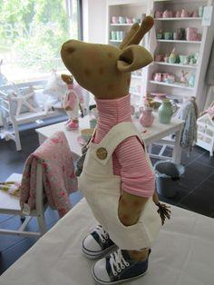 Deko-Objekte - Giraffe, Schnusehase, Deko, Geschenk - ein Designerstück von Sweet-Home-IrisGorhold bei DaWanda