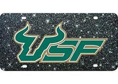 #USF Bulls glitter license plate.