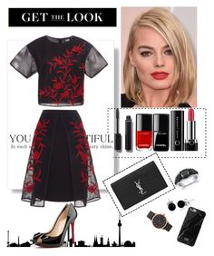 """Get the look : Margot Robbie"" by pponyvore ❤ liked on Polyvore featuring Chanel, Marc Jacobs, Sachin + Babi, Christian Louboutin, Yves Saint Laurent, Bling Jewelry, Native Union and GetTheLook"
