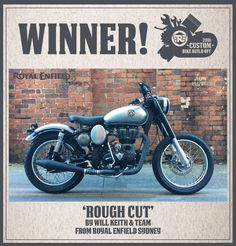 Royal Enfield Custom Motorcycle Build Off Winner Rough Cut by Royal Enfield Sydney Classic 500