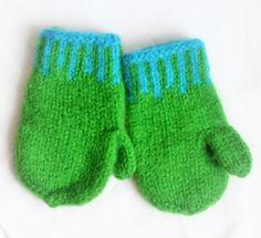 Grønn, str 4-6 år, Mittens, Gloves, Winter, Fashion, Fingerless Mitts, Winter Time, Moda, La Mode, Fasion