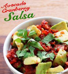 Ideas+for+Fresh+Cranberries | fresh cranberry avocado salsa
