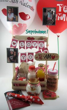 Delicioso desayuno Sorpresa con amor Easy Gifts, Love Gifts, Birthday Hampers, Brunch Bar, Valentines Breakfast, Food To Go, Ideas Para Fiestas, Stuffed Sweet Peppers, Boyfriend Birthday
