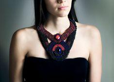 Statement necklace jewelry  women boho jewelry  por RasaVilJewelry
