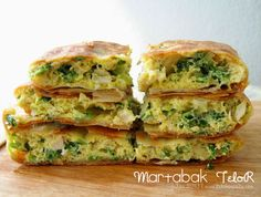 Indonesian pancake with vegetables inside... it's called MARTABAK TELOR #indonesian #food