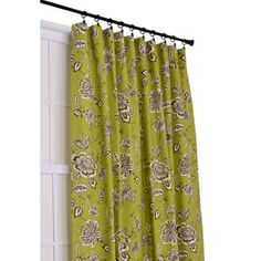 Ellis Curtain Jeanette 3-in-1 Tailored Drape Panel in Green