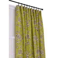 Ellis Curtain Jeanette 3-in-1 Tailored Drape Panel in Green