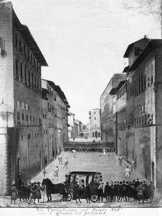 1600: playing soccer on Via Tornabuoni.
