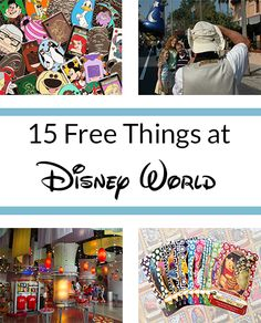 Save some money! Here are 15 things you can get for free at Disney World.