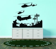 Military Army War Scene Aircraft Helicopters Planes Guns Tank Fighting Combat Soldiers Battle Bedroom Living Room Picture Art Graphic Design Image Vinyl Wall Decal Peel & Stick Sticker Mural Size : 24 Inches X 24 Inches - 22 Colors Available Design With Vinyl Decals http://www.amazon.com/dp/B00COAPEPK/ref=cm_sw_r_pi_dp_edgOtb03KSAKYZG0