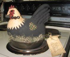 Primitive Chicken / painted