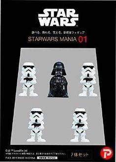 Happinet Tsumi colle Star Wars mania 01 Darth Vader 7 pieces mini Figure JPN 33