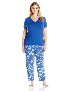 HUE Women's Plus Size Through Hoops Capri Pajama Set *** Trust me ...