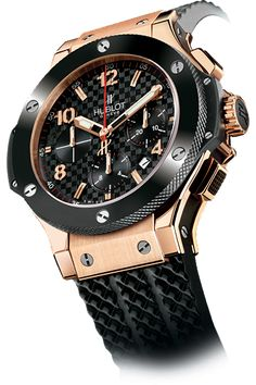 CERAMIC: Hublot Big Bang Gold Ceramic with 18K red gold case and ceramic bezel.