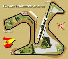 Circuito de Jerez in the south of Spain used for the Spanish Grand Prix from 1986 to 1990