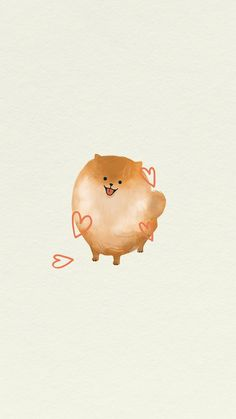 Fluffy Pomeranian mobile screen background | premium image by rawpixel.com / nunny Dog Wallpaper, Mobile Wallpaper, Cute Pug Puppies, Lab Puppies, White Pomeranian, Puppy Drawing, Collages, Dog Illustration, Animal Paintings