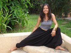 Harem Pants ...Yoga Pants ..Leasuire Pants ...Color Black by Ablaa, $35.00