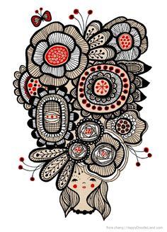 Flower Girl print | Flora Chang