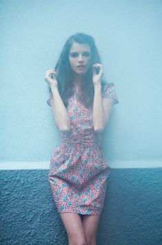 summery floral dress~