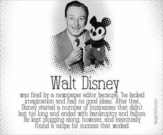 Walt Disney Famous Failure Stories Behind The Most Famous & Successful People Of the World Walt Disney Life, Famous Failures, Rap Songs, Growth Mindset, Fixed Mindset, Disney Quotes, People Of The World, Successful People, Anchor Charts