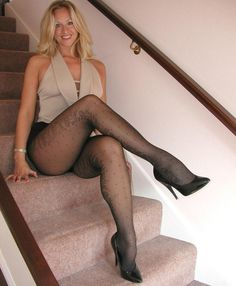 LOVE her patterned stockings